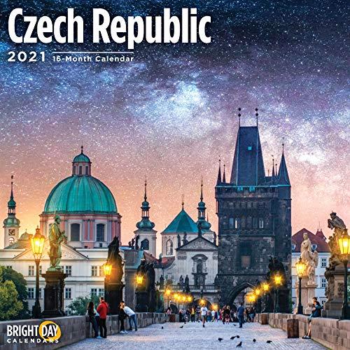 2021 Czech Republic Wall Calendar by Bright Day, 12 x 12 Inch, European Travel Destination