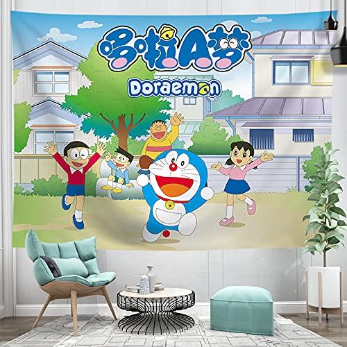 WNJK Tapices,Anime Doraemon Toalla De Playa Manta Esterilla De Picnic Esterilla De Yoga Arte Dormitorio Dormitorio Decoración del Hogar 230 * 150 Cm