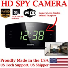 ZEUS CCTV ZCH-PC1080 Full HD 1080P Home Alarm Clock Radio HD Spy Camera Covert Surveillance Hidden Nanny Camera Spy Gadget (WI-FI Model/w 16GB SD Card)