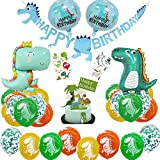 Anyingkai Dinosaurier Partyset,Kindergeburtstag Deko Dinosaurier,Folienballons Dinosaurier,Dino Deko Kindergeburtstag Set,Dinosaurier Geburtstags Party