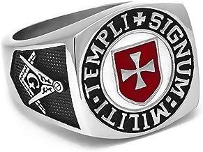 Croix de Malte Templi Signum Militi Bague Chevali/ère Soldats de lordre du Templier Franc Ma/çon