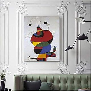 Pablo Picasso Miro Femme Oiseau Étoile Toile Peinture Impressions Salon Décoration de La Maison Moderne Mur Art Peinture A...