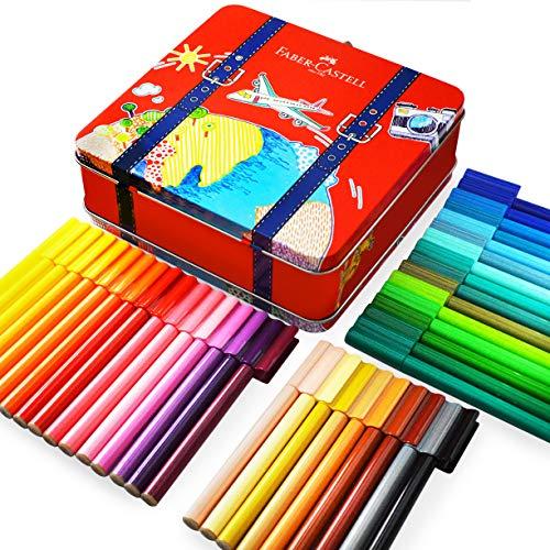 Faber-Castell Filzstifte Connector in Koffer-Dose, farblich sortiert, Geschenkdose mit 40 Stiften