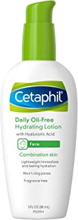 Cetaphil Daily Oil-Free Hydrating Lotion with Hyaluronic Acid, 3.0 Fluid Ounce
