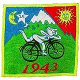 ImZauberwald Hofmann LSD Bicycle Day Aufnäher original (Schwarzlicht aktiv, handgestickt ohne PC) psychedelic acid patch psy trance goa hippie blacklight glowing Albert Hofmann 1943