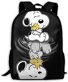 45e7fa038d CHLING Lightweight Backpack Briefcase Laptop Shoulder Bag Snoopy and  Reflection Classic Basic Water Resistant Daypack Bag