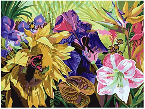 respuestas rápidas Qwerlp Dibujo Por Números, Flor En Flor, Bricolaje Pintura Pintura Pintura Al óleo Por Números, Pintura Por Número Kits-40X50Cm,Frameless  gran descuento
