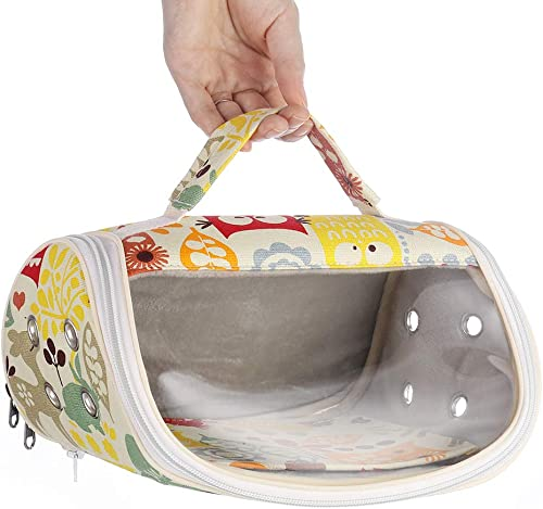 KINTOR Hamster Carrier Bag Small Animal Portable Breathable Outgoing Bag for Guinea Pig Hedgehog Squirrel Chinchilla ...
