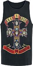 Guns N' Roses Appetite For Destruction Hombre Top Tirante Ancho Negro, Regular