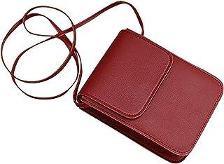 Buhui - Borsa da donna per telefono alla moda, a tracolla, mini borsa quadrata