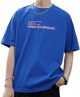 [ベンケ] Tシャツ メンズ 無地 半袖 ロゴ入り 丸襟 カジュアル カットソー オシャレ 春 夏 五分袖 トップス