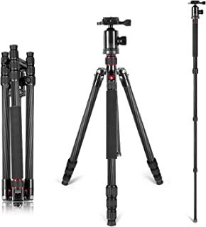 Neewer Carbon Fiber 66 inches/168 centimeters Camera Tripod Monopod with 360 Degree Ball..