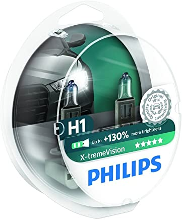 Philips 12258XVS2 X-treme Vision - Bombilla H1 +100% para faros delanteros (