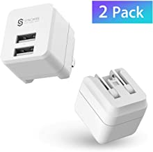 USB Wall Charger Block [2-Pack], Syncwire Dual Port 12W USB Charging Cube with Foldable Plug for Apple iPhone XS/Max/XR/X/8/7/6S/6 Plus, Ipad, Samsung S10/S9/S8, HTC, Moto, LG & More