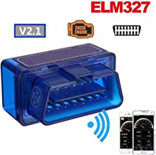 FidgetKute Mini OBD2 ELM327 V2.1 Bluetooth Car Scanner Android Torque Auto Scan Tool hi Show One Size