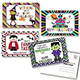 Cute Halloween Themed Blank Postcards To Send To Kids, 4'x6' Fill In Notecards (4 different design) by AmandaCreation (20)