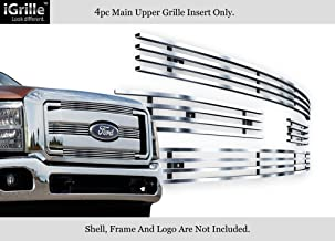 APS Compatible with 2011-2016 Ford F-250 F-350 Lariat King Ranch Stainless Steel Billet Grille F66827C