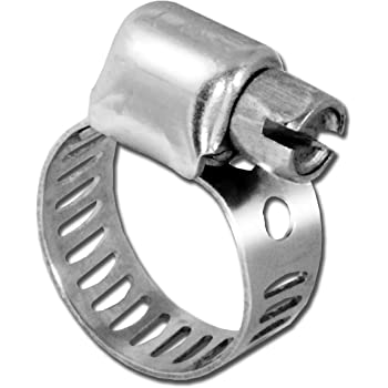 Pro Tie 33102 SAE Size 24 Range 1-1//16-Inch-2-Inch SS Turn Key All Stainless Hose Clamp 10-Pack