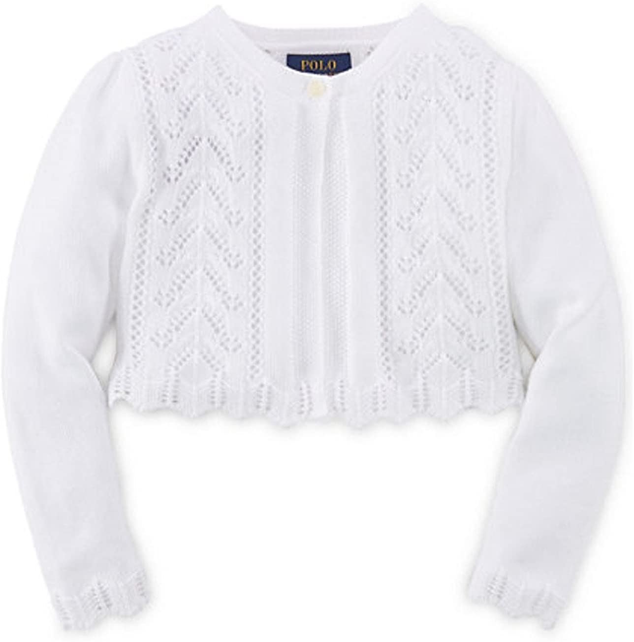 Ralph Lauren Girls' Pointelle-Knit Cotton Shrug