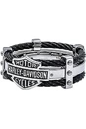 Harley-Davidson Mens Engine Genuine Leather Belt Black HDMBT11109-BLK