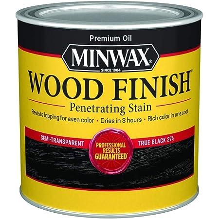 Minwax Wood Finish 227644444, Half Pint, True Black, 8 Fl Oz