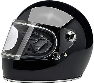 Biltwell Gringo S - Casco integral para motocicleta, color negro brillante