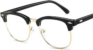 Klassieke Metalen Frame Glazen Vrouwen Retro Anti Blauw Licht Bril Frame Mannen Ronde Brillen 9.23 (Frame Color : BlackGol...