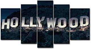 So Crazy Art 5 Piece Wall Art Painting Hollywood Sign In Mountain Prints On Canvas The Picture City Pictures Oil For Home Modern Decoration Print Decor For Furniture