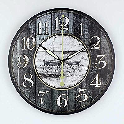 Retro style living room wall decoration watches absolutely silent wall clock vintage home decor unique