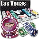 300 Ct Las Vegas 14 Gram Clay Poker Chip Set w/ Aluminum Case