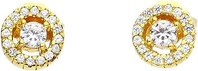 Thomas Sabo H1814 - 414-14 orecchini in argento dorato con giallo con zircone bianco