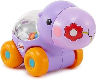Fisher Price Poppity Araçlar, Emeklemeye Teşvik Edici Zıplayan Renkli Toplar, Eğlenceli Sesler, Mor Hipopotam, BGX30