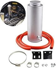 Sporacingrts Universal Aluminum Engine Breather Oil Catch Tank Can Bottle Black