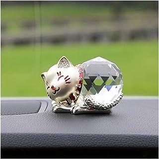 ASKLKD Voiture Ornement Voiture Chanceux Chat Automobile décoration d'intérieur Tableau Tableau de Bord Accessoires Automo...