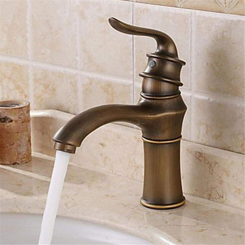 Bath Faucet Copper Hot and Cold Water Basin Faucet European Retro Hot and Cold Water Antique Basin Mixer