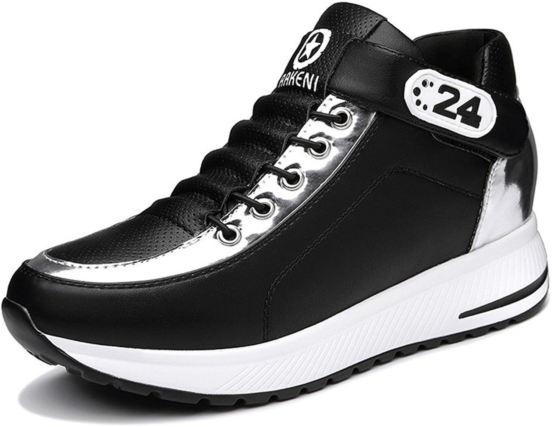 U-MAC Womens Fashion Wedge Sneakers Hook Loop Increased Inside Anti-Slip Rubber Sole shoes