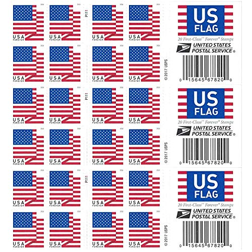 Your Forever Stamps 2018 Postage Stamps Additional 10# Business Envelopes (3 Booklet - 60 Stamps)