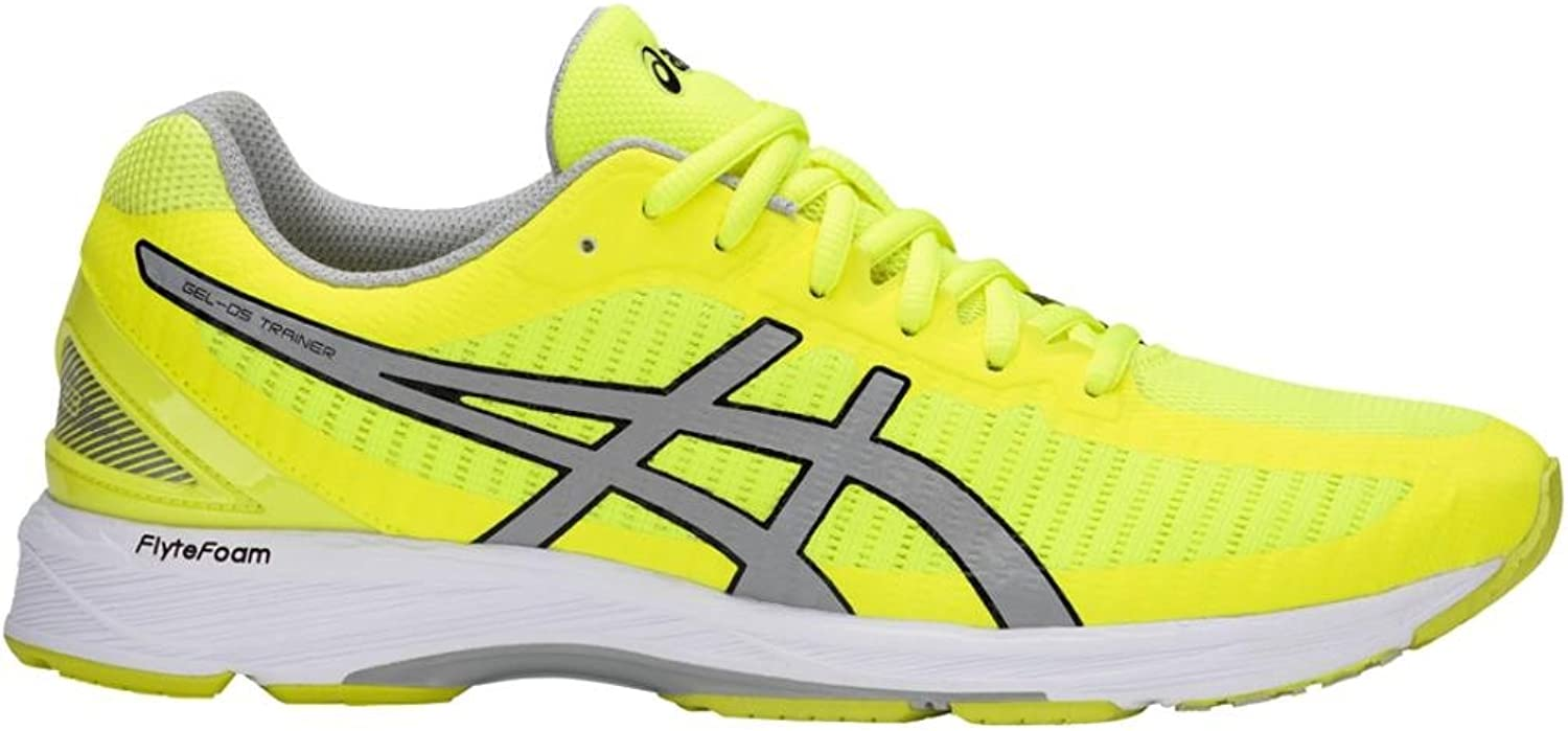 ASICS Men's Gel-DS Trainer 23 Safety Yellow Mid Grey White 10 D US