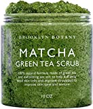 Brooklyn Botany Matcha Green Tea Exfoliating Body Scrub (Updated Formula) - Body Scrub, Foot Scrub & Facial Scrub Moisturizes and Nourishes Face Feet & Skin - Reduce Inflammation - Soothe & Smooth Feet - 10 oz