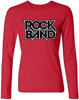 Tommery Women's Rock Band Game Logo Long Sleeve Cotton T Shirt