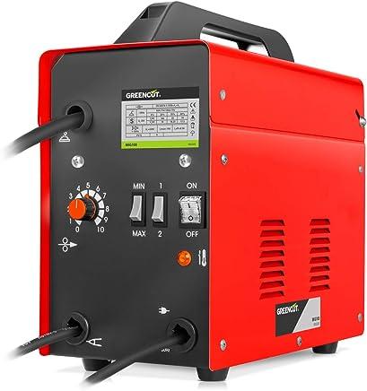 Greencut MIG-100 - Soldador inverter eléctrico hilo continuo con gas turbo ventilado, 120A
