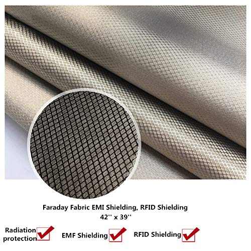 "Conductive Fabric,RFID Blocking Cloth Shield 39/""x43/"" Stop Credit Card Theft!"