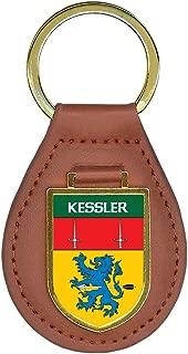 Kessler Family Crest Coat of Arms Key Chains