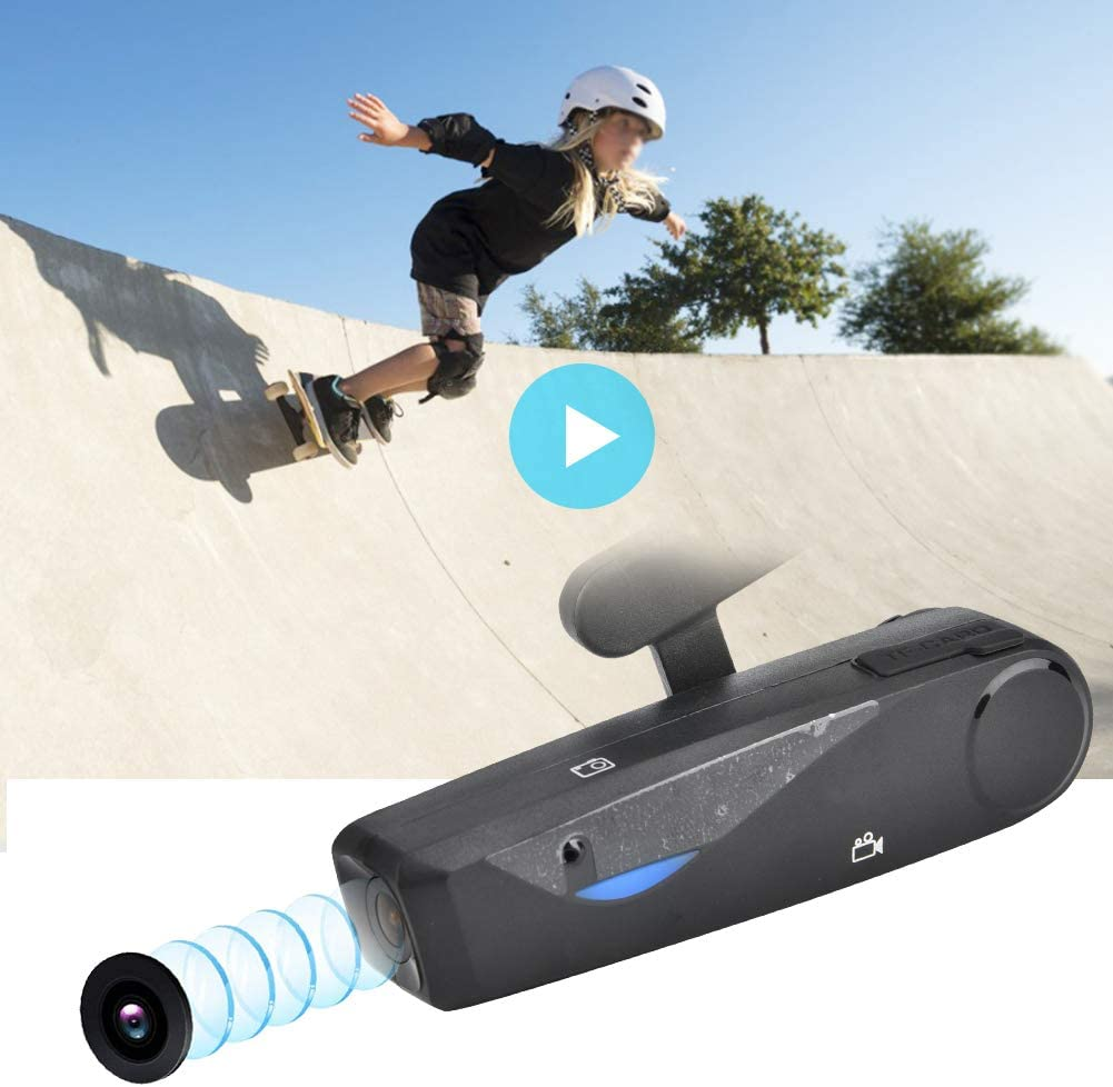 1920x1080P 20MP HD Head Mounted Action Camera, Head Wear Mini Sports Camcorder Wide Angle Video WiFi Cell Phone APP Control with Microphone