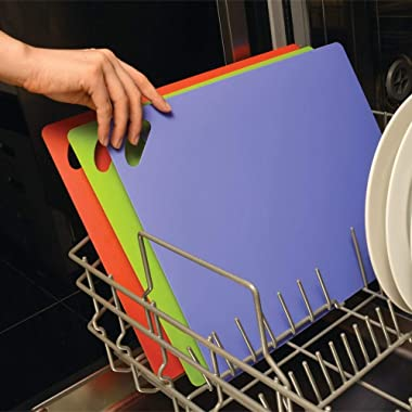 Slice Bright Flexible Cutting Mats are The Safer, Smarter, Faster and Easier Way to Prepare Your Food. Set of six Colorful ma