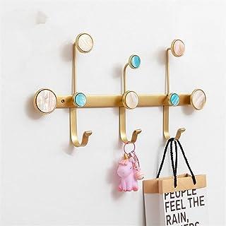 おしゃれ ウォールフック ハンガーはローブハット服は玄関ベッドルーム浴室用ウォールマウントコートフックウォールコートラックフックをフックラック 整理整頓 (Color : Gold, Size : 3)