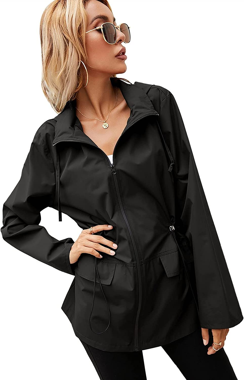 Women's Attention brand OFFicial shop Hooded Raincoat Waterproof Jacket Lightweight Windproof