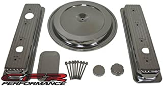 1988-92 Compatible/Replacement forChevy/GMC 5.0L & 5.7L Truck Chrome Steel Engine Dress Up Kit - Smooth