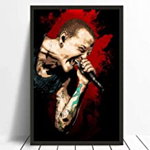 JYWDZSH Canvas Print Linkin Park Chester Bennington Wall Poster Canvas Print Bar Poster Home Decor No Frame,50X70Cm No Frame