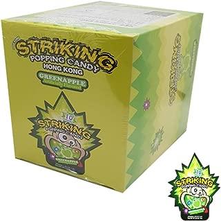 Striking Popping Candy Hong Kong Green Apple 15g(pack of 12)